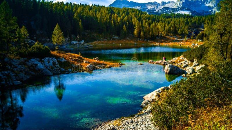 Los lagos Triglav en tiempo de primavera de Eslovenia imágenes de archivo libres de regalías