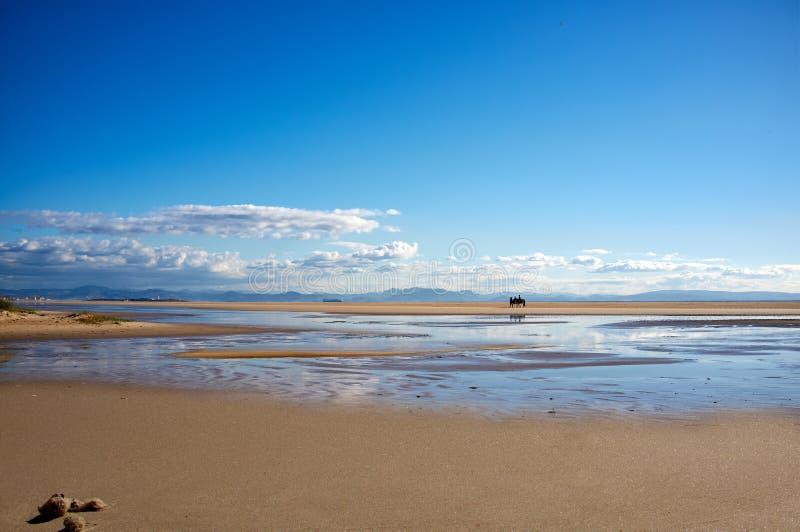 Los lanc plaża. Tarifa, Cadiz, Hiszpania obrazy royalty free