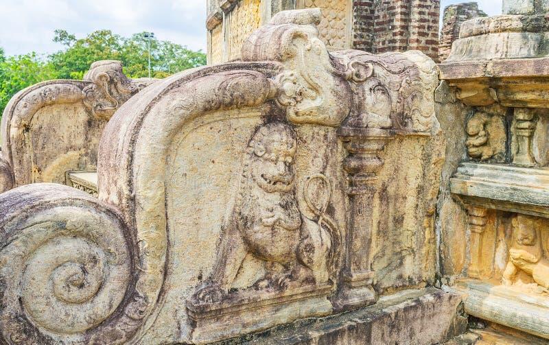 Los leones y los dragones de Sri Lanka fotos de archivo libres de regalías