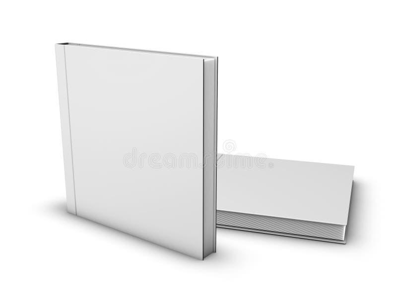 Los libros cuadrados cerraron falso para arriba aislados en el fondo blanco stock de ilustración