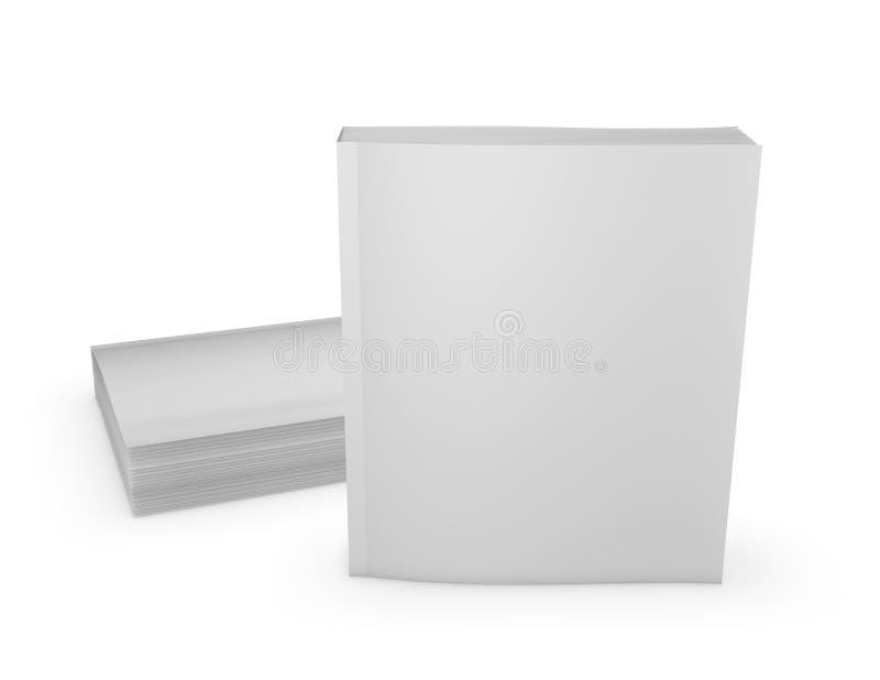 Los libros de bolsillo vacian las cubiertas imitan encima de la representación de la presentación 3D ilustración del vector