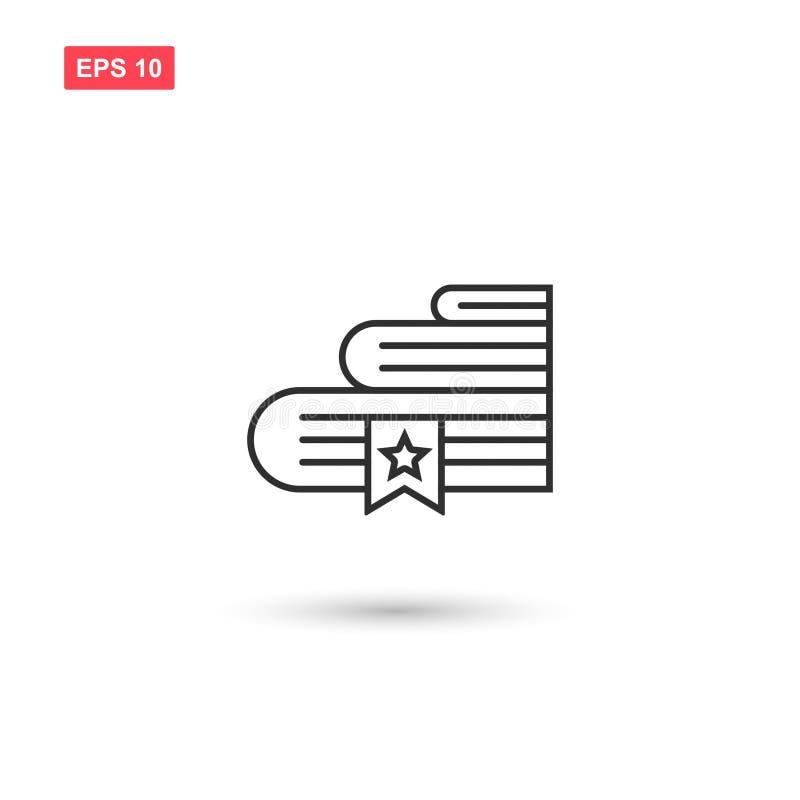 Los libros marcan una dirección de la Internet diseño del vector del icono aislaron 6 ilustración del vector