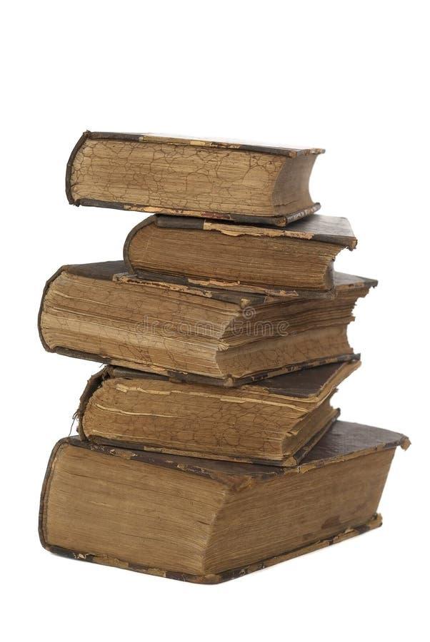 Los libros viejos aislaron imagen de archivo libre de regalías
