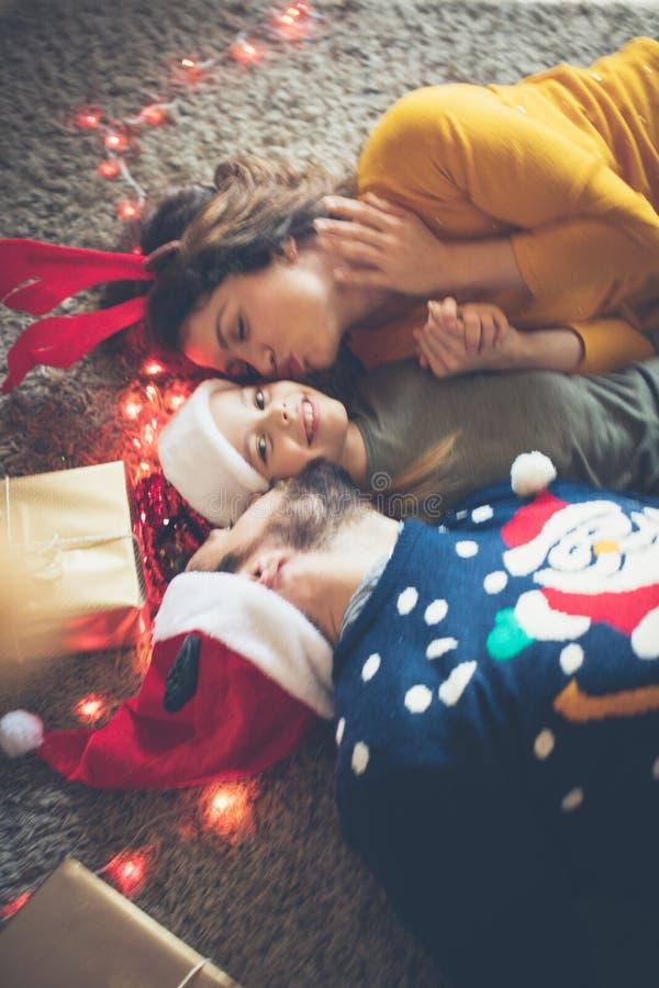 Los Liebe in Weihnachtstage stockbilder