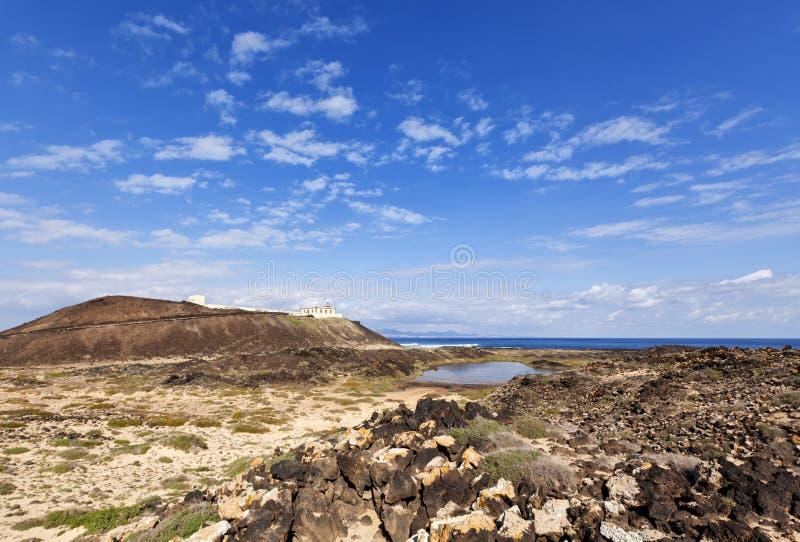 Los Lobos eiland stock foto