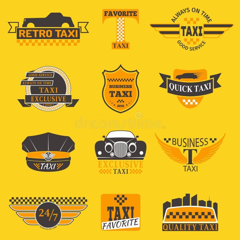 Los Logotipos Del Taxi Que Las Plantillas De La Insignia De La ...