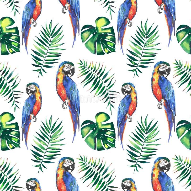 Download Los Loros Grandes Amarillos De La Selva Hermosa Linda Colorida Brillante Y Azules Tropicales Con Las Hojas De Palma Verdes Modela Stock de ilustración - Ilustración de mano, gráfico: 100526227