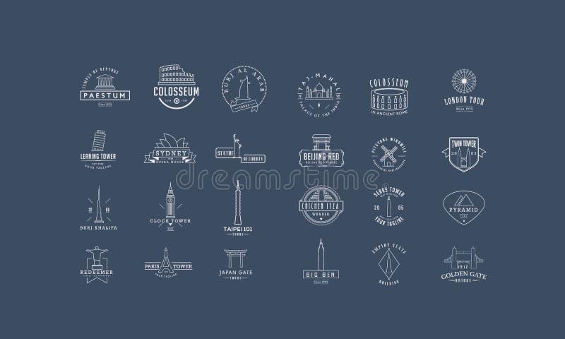 Los lugares más famosos en el planeta libre illustration