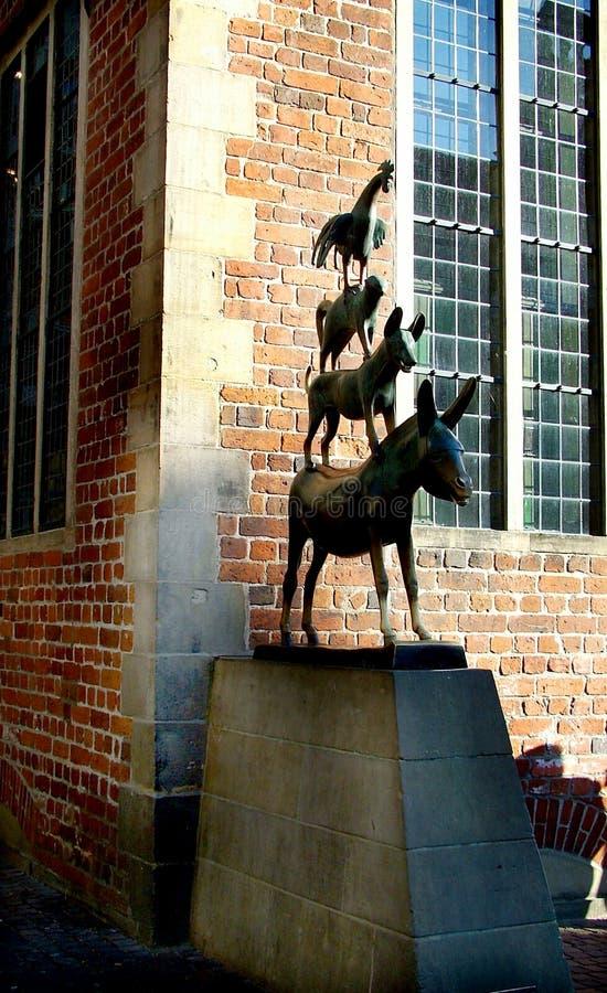 Los músicos de la ciudad de Bremen imagen de archivo