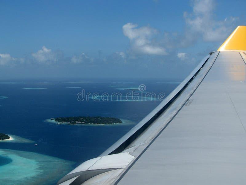 Los Maldives por el aire foto de archivo