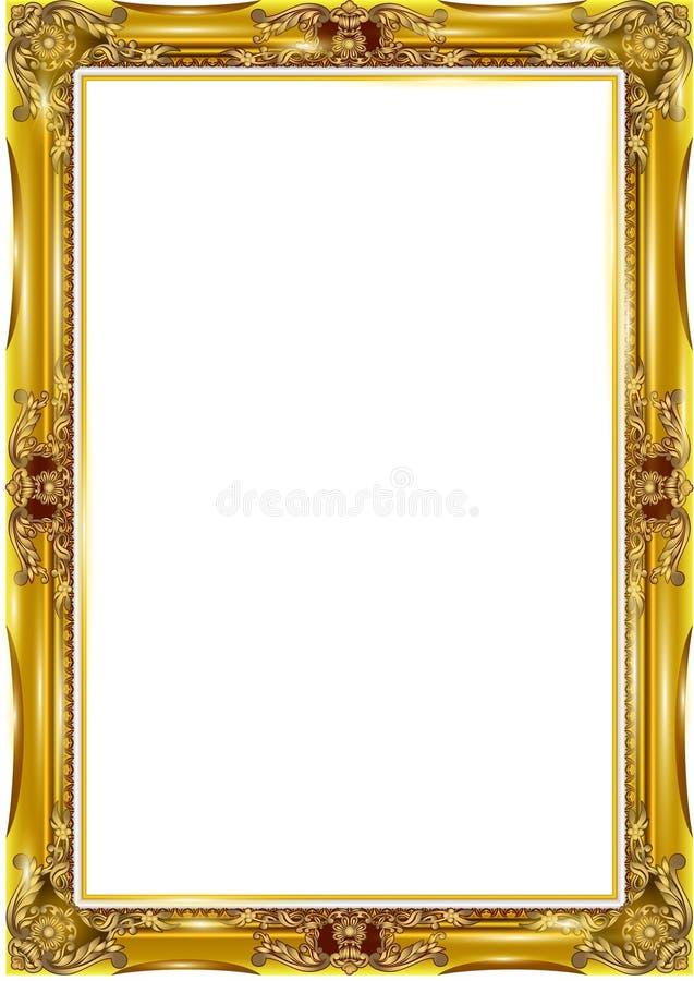 Los marcos y las fronteras decorativos del vintage fijaron, marco de la foto con la línea de la esquina stock de ilustración