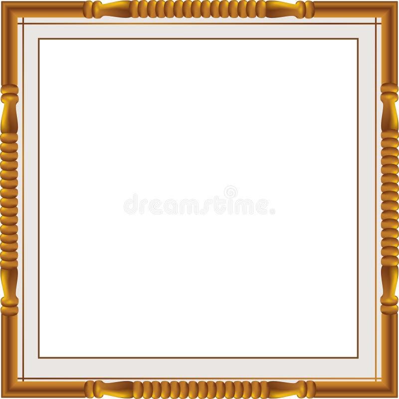 Los marcos y las fronteras decorativos del vintage fijaron, marco de la foto con la línea de la esquina, silueta de la esquina, m stock de ilustración