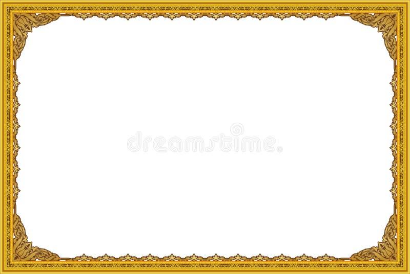 Los marcos y las fronteras decorativos del vintage fijaron, marco de la foto con la línea de la esquina, silueta de la esquina stock de ilustración