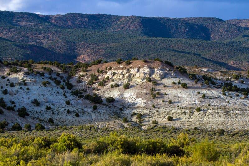 Los marrones parquean la formación en marrones parquean NWR en Colorado foto de archivo