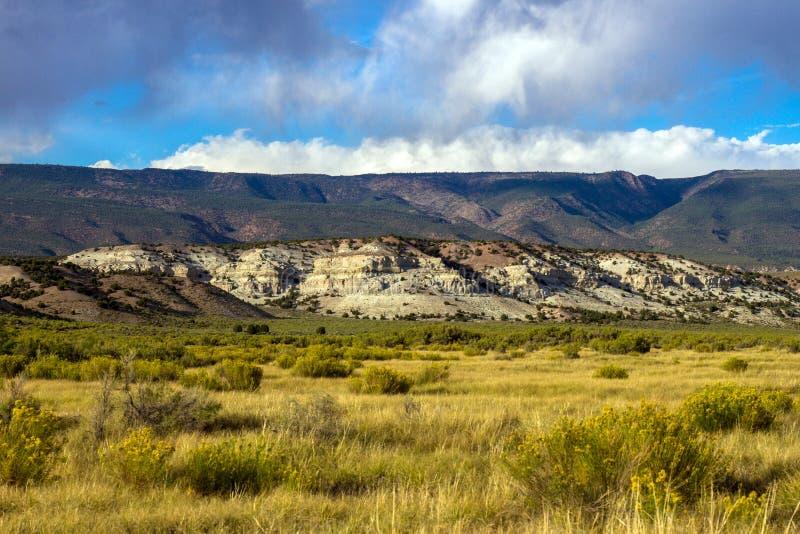 Los marrones parquean la formación en marrones parquean NWR en Colorado imagen de archivo