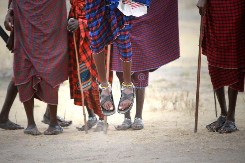 Los Masai saltan imagen de archivo libre de regalías