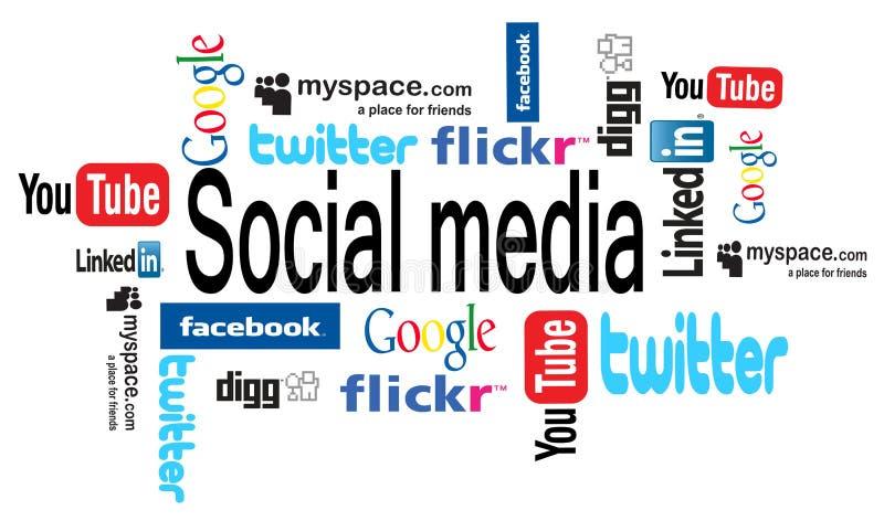 Los media sociales redactan la nube libre illustration