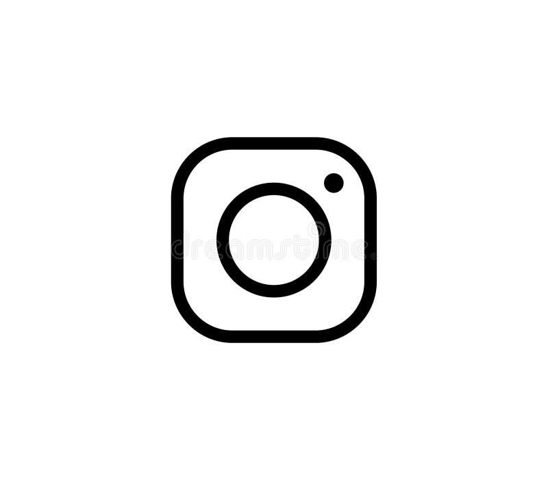 Los medios sociales del icono de la cámara de la foto les gusta el instagram stock de ilustración