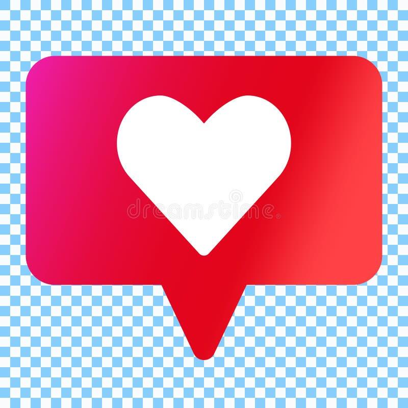los medios sociales les gusta el icono del vector stock de ilustración