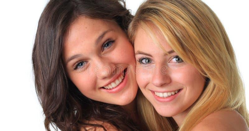 Los mejores amigos de muchacha. imagen de archivo libre de regalías
