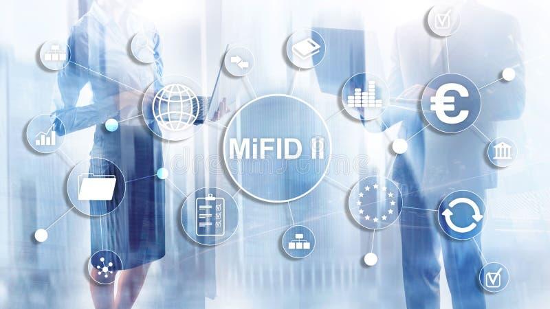 Los mercados en directorio de los instrumentos financieros MiFID II Concepto de la protección del inversor imagenes de archivo