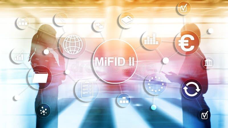 Los mercados en directorio de los instrumentos financieros MiFID II Concepto de la protecci?n del inversor imagen de archivo