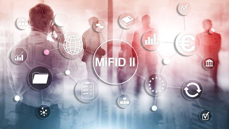 Los mercados en directorio de los instrumentos financieros MiFID II Concepto de la protecci?n del inversor imagen de archivo libre de regalías
