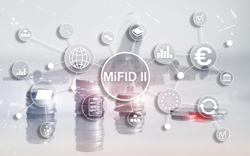 Los mercados en directorio de los instrumentos financieros MiFID II Concepto de la protecci?n del inversor imágenes de archivo libres de regalías