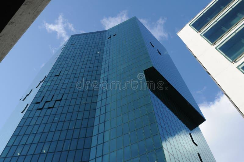 Los 126 metros del alto rascacielos primero suizo de la torre en ricos del ¼ de ZÃ fotografía de archivo libre de regalías
