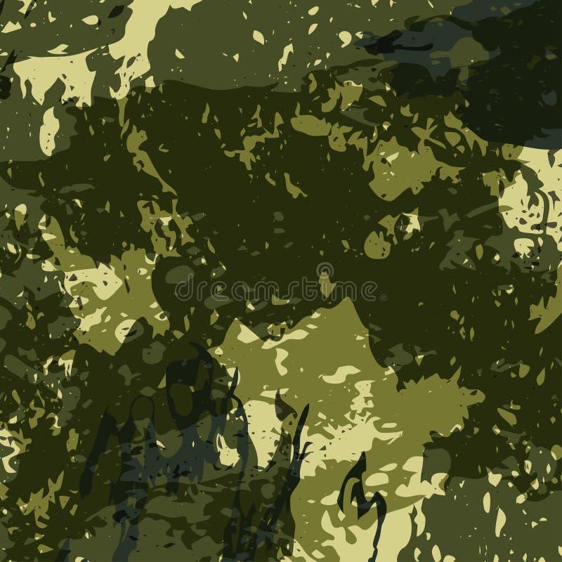 Los militares abstractos camuflan el fondo hecho de chapoteo Modelo de Camo para la ropa del ejército Vector stock de ilustración