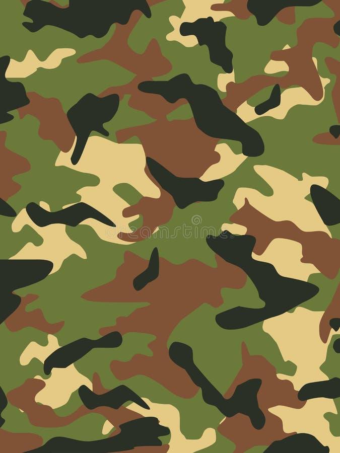 Los militares camuflan ilustración del vector