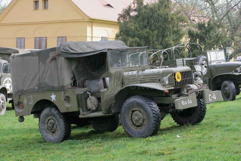Los militares de la vendimia acarrean foto de archivo libre de regalías