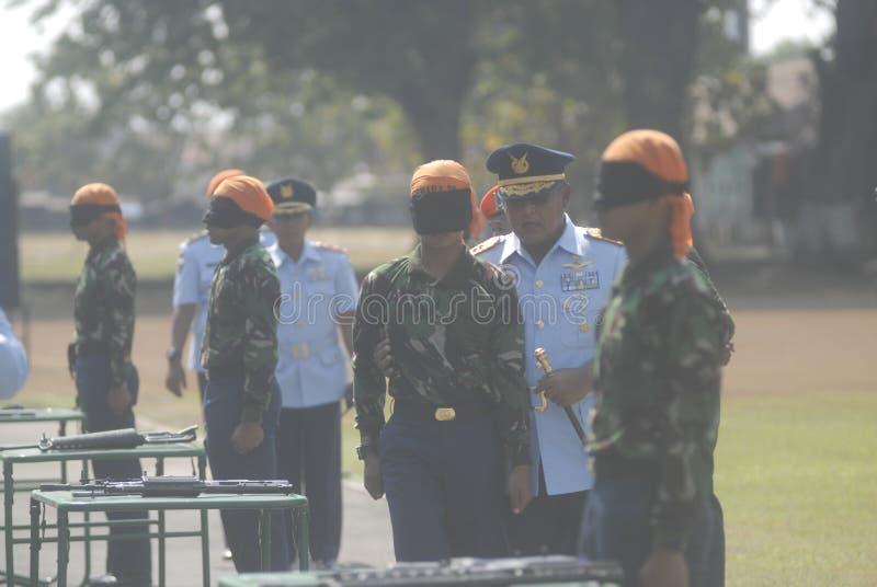 LOS MILITARES INDONESIOS REFORMAN imágenes de archivo libres de regalías