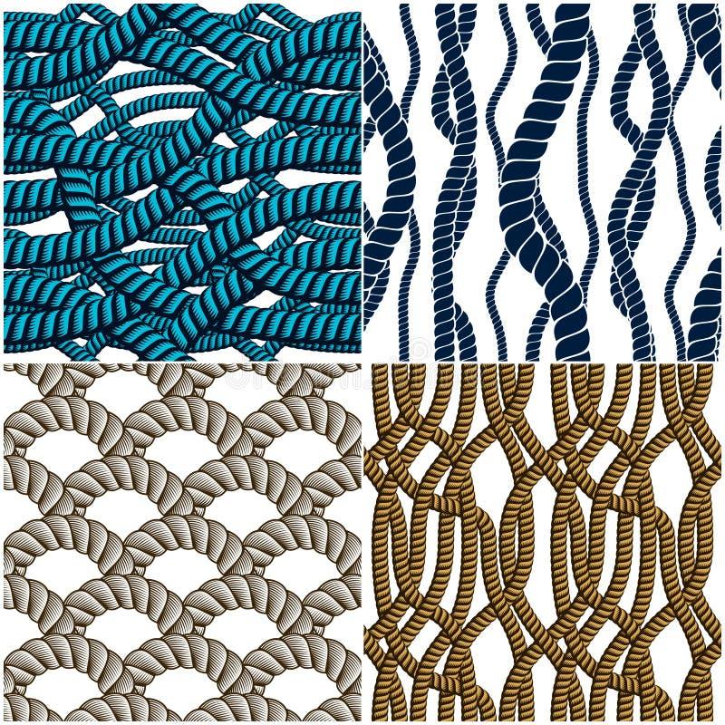 Los modelos inconsútiles de la cuerda fijaron, los fondos de moda del papel pintado del vector stock de ilustración