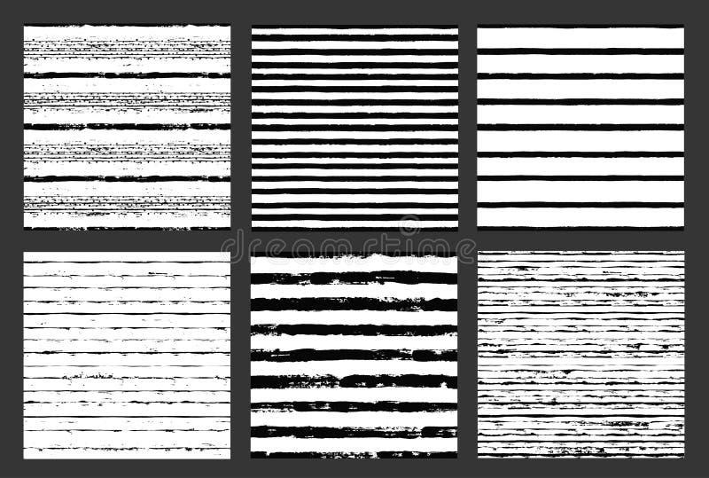 Los modelos pintados dan los fondos exhaustos Dots Stripes ilustración del vector