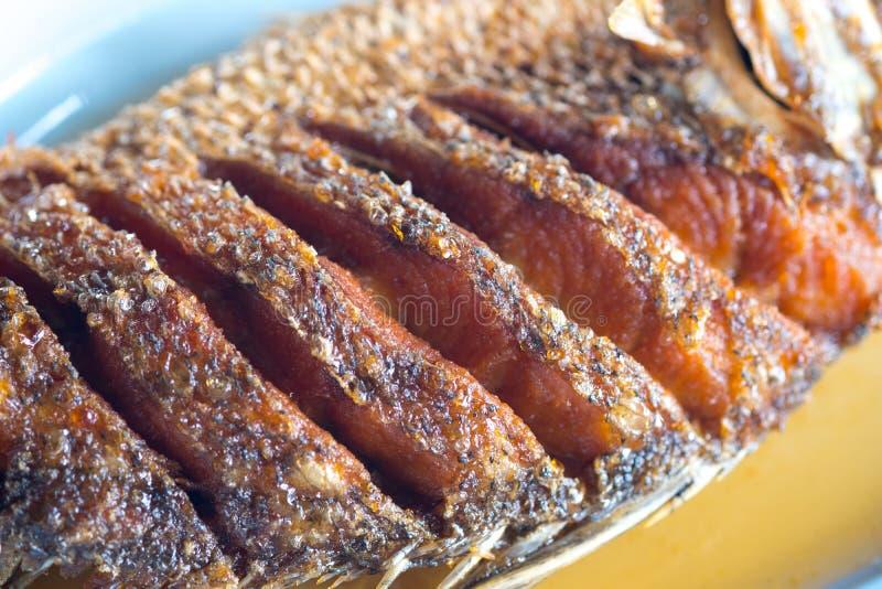 Los mordedores fritos remataron con la salsa de pescados imagenes de archivo