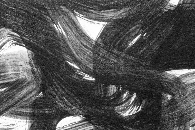 Los movimientos abstractos del cepillo y salpican de la pintura en el Libro Blanco wat fotografía de archivo libre de regalías
