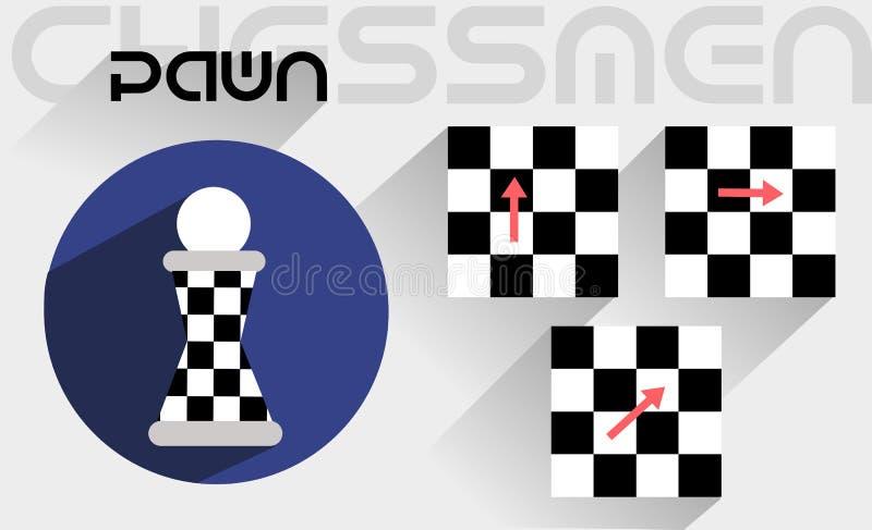 Los movimientos del empeño del ajedrez libre illustration