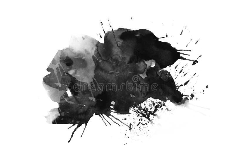 Los movimientos gráficos del cepillo de los remiendos del color diseñan el elemento del efecto para el fondo ilustración del vector