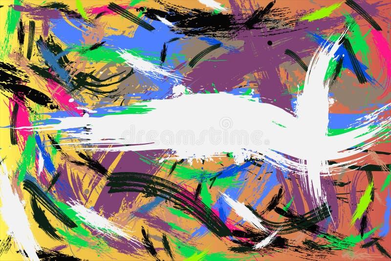 Los movimientos multicolores de la acuarela perfeccionan el fondo para su texto imágenes de archivo libres de regalías