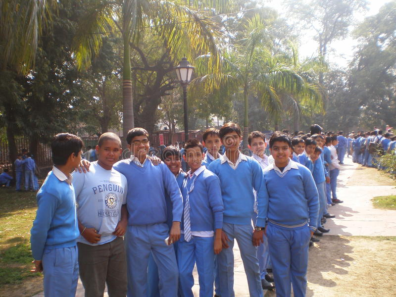 Los muchachos de la India - el Agra foto de archivo libre de regalías