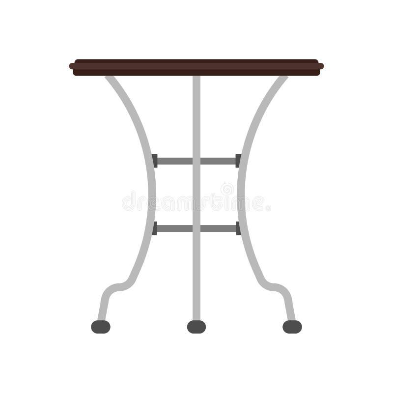 Los muebles del icono del vector de la vista lateral de la tabla aislaron interior El escritorio vac?o del elemento del negocio d ilustración del vector