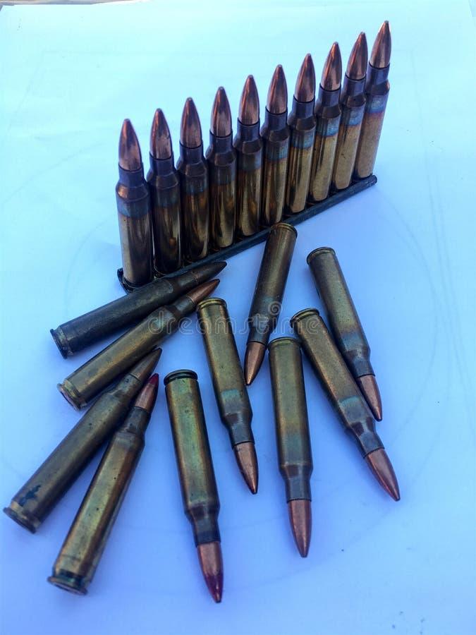 Los 5 munición de 56Ã-45m m imagen de archivo
