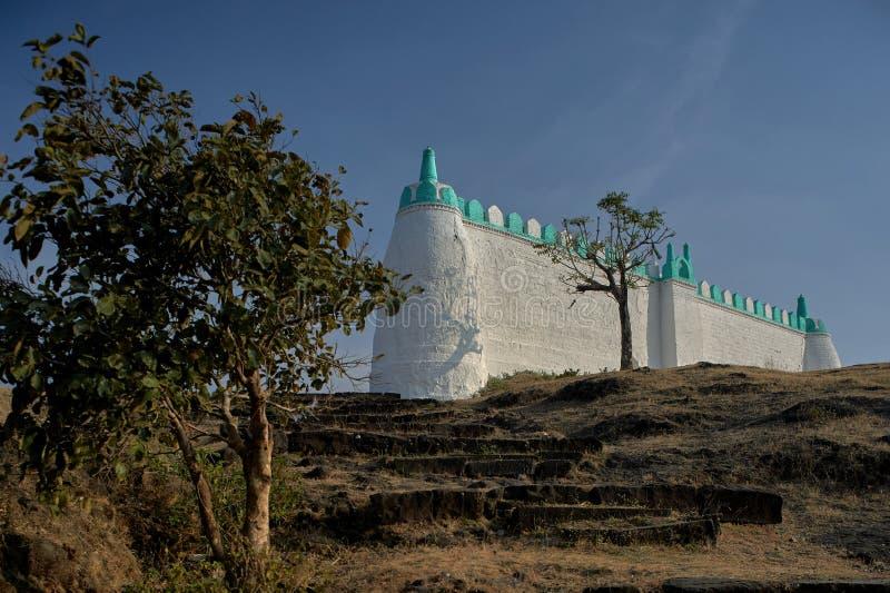Los musulmanes de Idgaha ruegan o namaz en día especial fotos de archivo libres de regalías