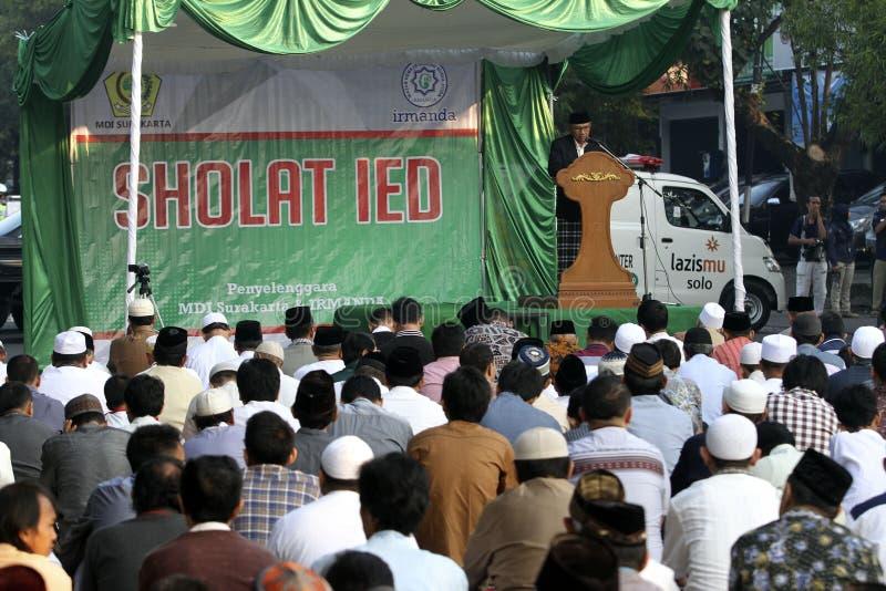 Los musulmanes ruegan foto de archivo libre de regalías