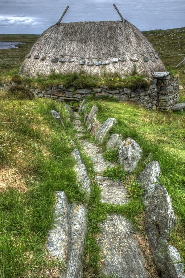 Los nórdises muelen, Shawbost, isla de Lewis foto de archivo