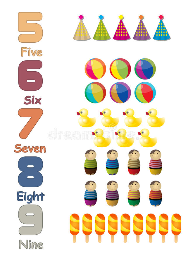 Los números fijaron 02 libre illustration