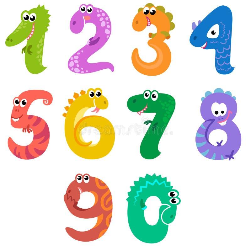 Los números les gusta dinosaurios stock de ilustración