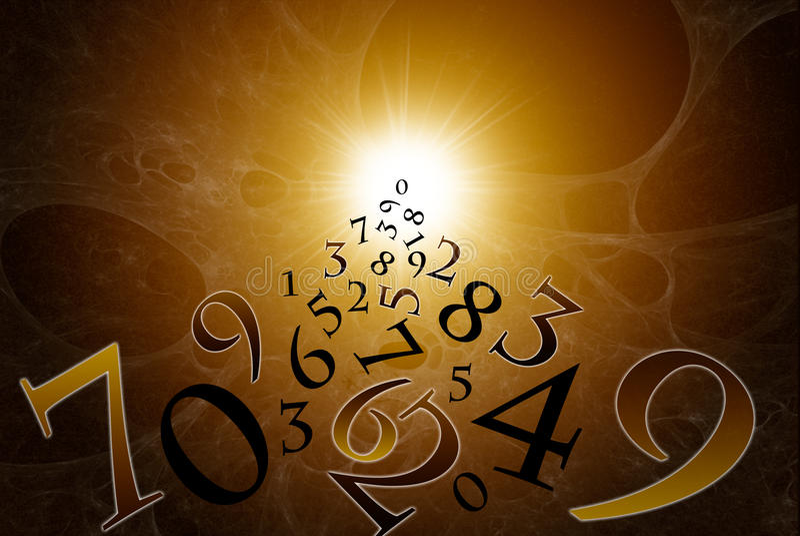 Los números mágicos stock de ilustración
