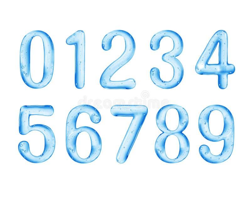Los números se hacen de líquido viscoso, aislado en el fondo blanco foto de archivo libre de regalías